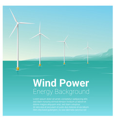 Energy concept background with wind turbine 32 vector