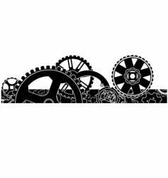 gear box header footer vector image vector image
