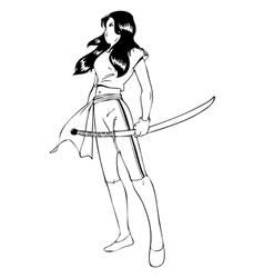 Warrior Woman vector image vector image