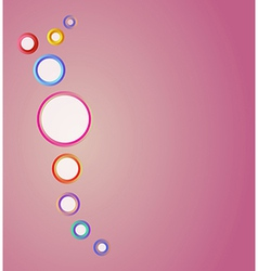 color circles on the red background vector image