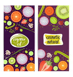 natural cosmetics vertical flyers set vector image