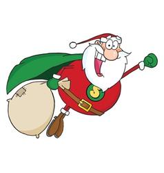 Super Santa Claus Fly vector image vector image