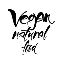 vegan lettering template vector image