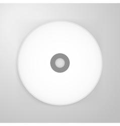 Compact disk blank mockup vector