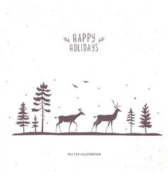 deer forest vector image vector image