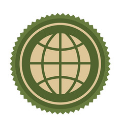 green symbol earth planet icon vector image