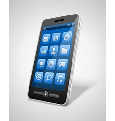 Mobile phone and icons vector