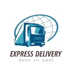 delivery logo design template transport or vector image vector image