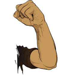 gesture raised fist vector image