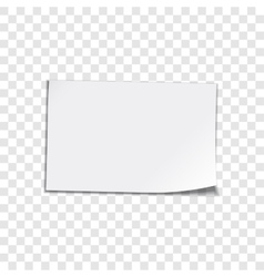 Paper sheet on transparent background vector image vector image