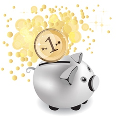 piggy bank and money vector image