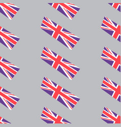 seamless background with british flags vector image