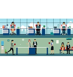 table tennis at work vector image vector image