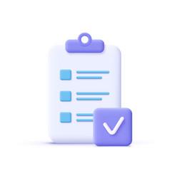 assignment done icon clipboard checklist symbol vector image