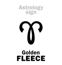 Astrology golden fleece vector