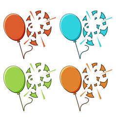 Balloon popped on white background vector