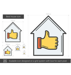 Best house line icon vector
