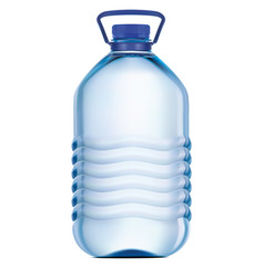 big plastic bottle potable water 3d vector image