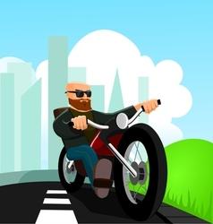 Biker on the Road vector image