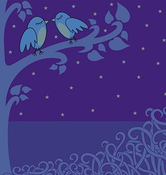 Birds in the night vector
