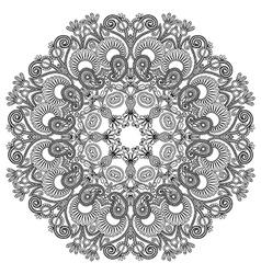 Black and white circle ornament ornamental round l vector