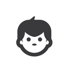 boy face icon vector image