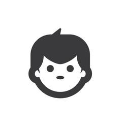 boy face icon vector image