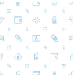 card icons pattern seamless white background vector image