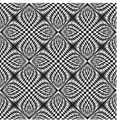 checkered seamless pattern optical effect vector image