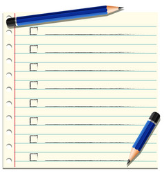 checklist on line paper vector image