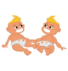 Child twins vector image