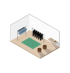 clothing store isometric interior design concept vector image