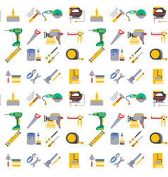construction worker equipment house renovation vector image