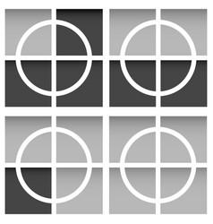 Crosshair firearms reticle target aim crosses vector