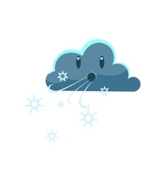 Dark Cloud Blowing Cold Wind vector