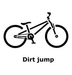 Dirt jump bike icon simple style vector