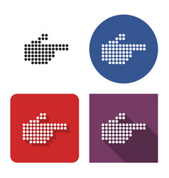 dotted icon hand with forefinger pointing vector image
