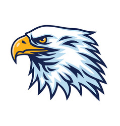 eagle logo head mascot sports team vector image
