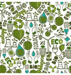 Ecology seamless pattern vector image