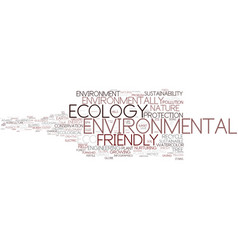 environmental word cloud concept vector image