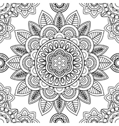Ethnic seamless pattern coloring pages template vector image