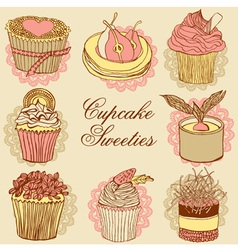 Fancy Cupcakes vector