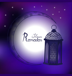 Fanous is a symbol of the holy month of ramadan vector