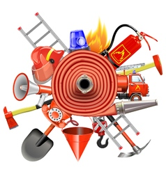 Fire Prevention Concept with Firehose vector image