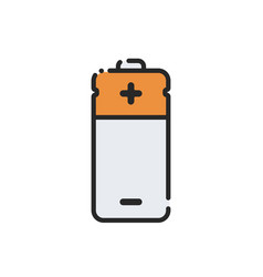 flat electric battery icon vector image