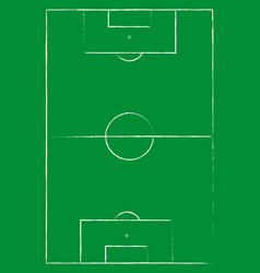 Flat green field football grass soccer field with vector