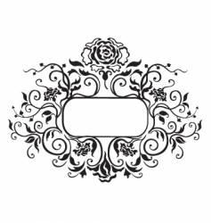 frame floral elements vector image