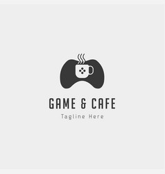 Game cafe logo design concept icon element vector