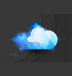 Glossy cloud computing vector