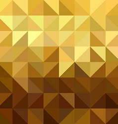 Gold triangle square seamless pattern low poly vector